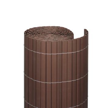 Balkonscherm pvc walnoot 90X300 cm