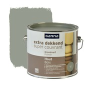 GAMMA Extra Dekkend grondverf hout grijs 2,5 liter