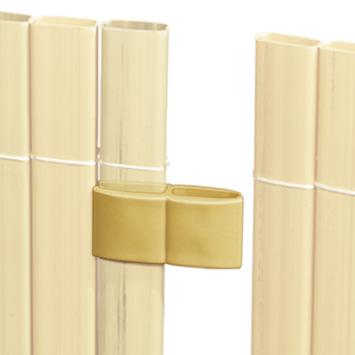 Verbinder bamboe voor balkonscherm 4 stuks
