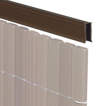 U-profiel walnoot voor balkonscherm 150 cm