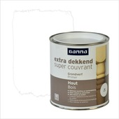 GAMMA Extra Dekkend grondverf hout wit 750 ml