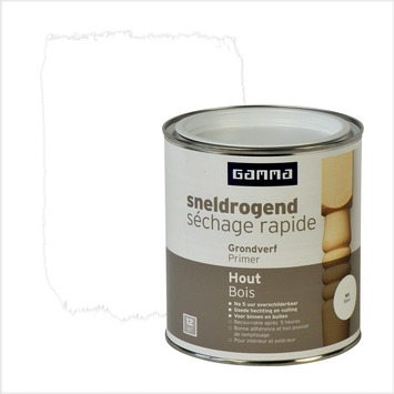 GAMMA grondverf hout sneldrogend wit 750 ml