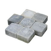 Trommelsteen grijs/zwart 14x14x7 cm per pallet