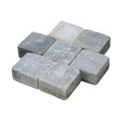 Trommelsteen grijs/zwart 14x14x7 cm per laag