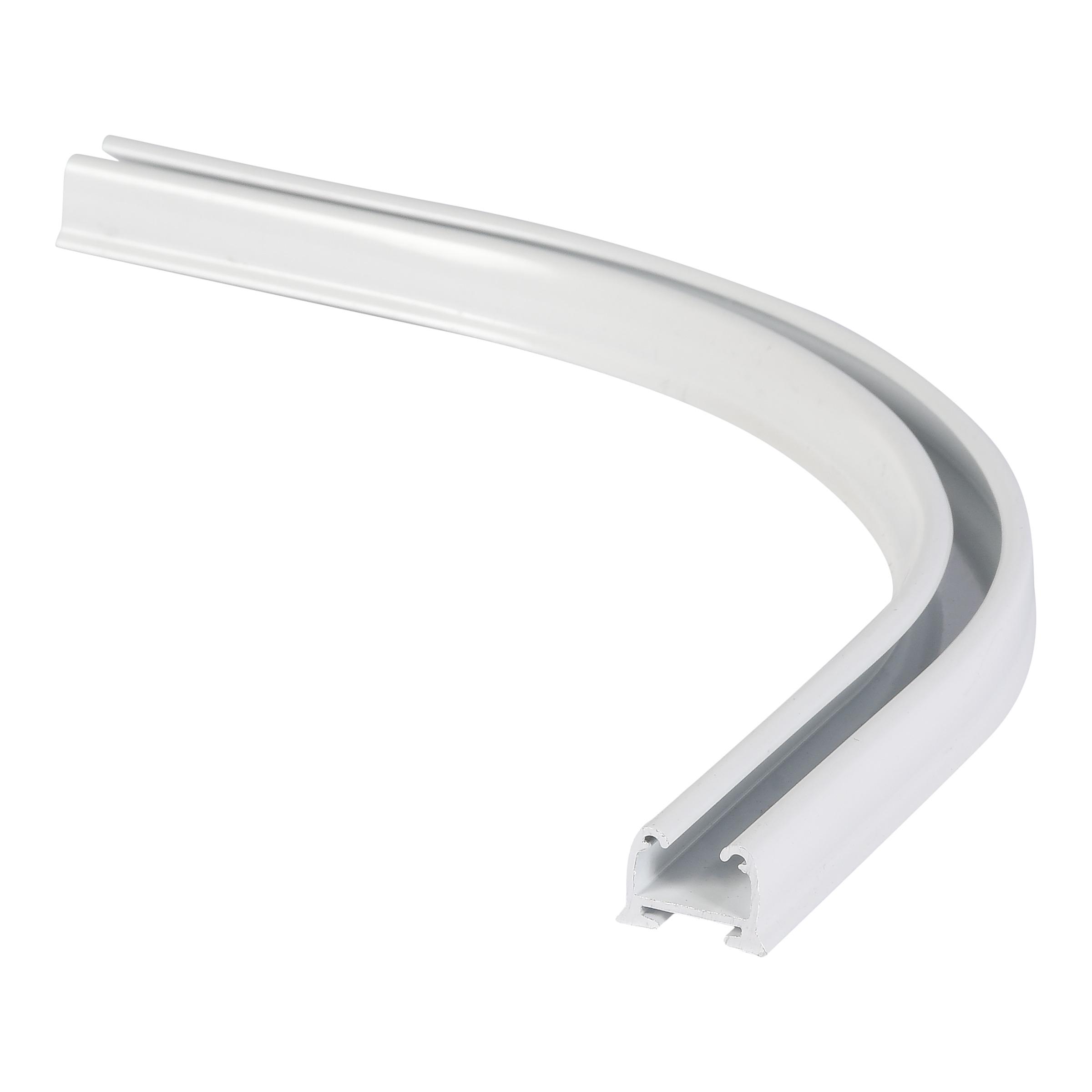 Gordijnrails Endless track bocht wit (90 gram)