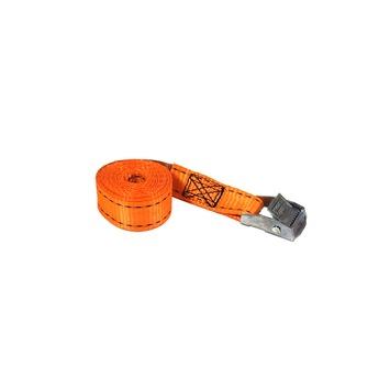 Jumbo spanband oranje  2,5m 25mm met klemgesp