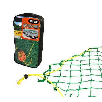 Crossafe Trailer net 150x250cm maaswijdte 50mm met elastisch koord en gepatenteerde stopper