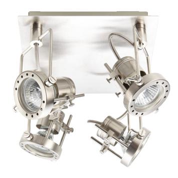 GAMMA spotplaat Futura nikkel 4-lichts