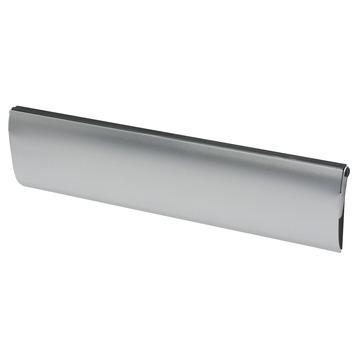 Handson brievenbusklep met borstel aluminium zilver blinde bevestiging