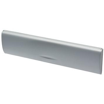 Handson brievenbusklep met borstel PVC zilver blinde bevestiging