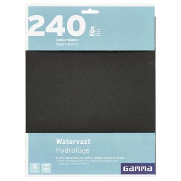 GAMMA schuurpapier watervast fijn K240 3 stuks