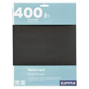 GAMMA schuurpapier watervast fijn K400 3 stuks