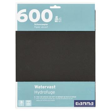 GAMMA schuurpapier watervast fijn K600 3 stuks