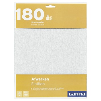 GAMMA schuurpapier fijn K180 3 stuks