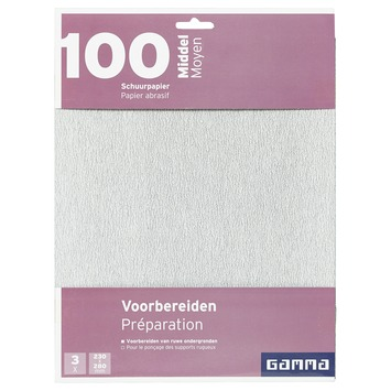 GAMMA schuurpapier middel K100 3 stuks