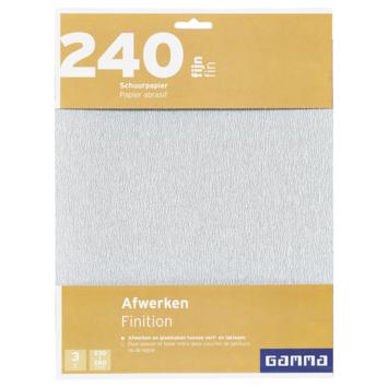 GAMMA schuurpapier fijn K240 3 stuks