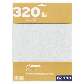 GAMMA schuurpapier fijn K320 3 stuks