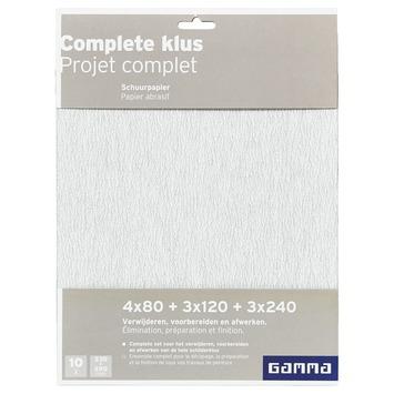 GAMMA schuurpapier voor de complete klus 10 stuks