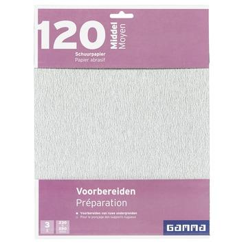 GAMMA schuurpapier middel K120 3 stuks