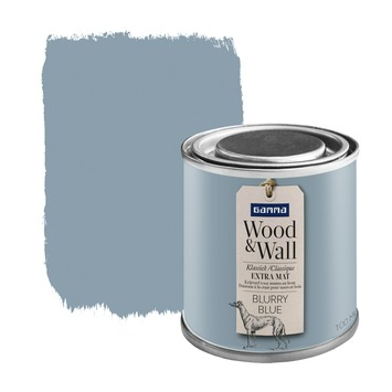 GAMMA Wood&Wall krijtverf Blurry Blue 100 ml