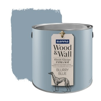 GAMMA Wood&Wall krijtverf Blurry Blue 2,5 liter