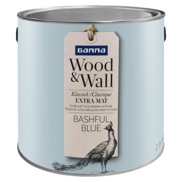 GAMMA Wood&Wall krijtverf Bashful Blue 2,5 liter