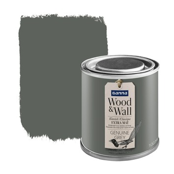 GAMMA Wood&Wall krijtverf Genuine Grey 100 ml