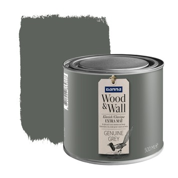 GAMMA Wood&Wall krijtverf Genuine Grey 500 ml