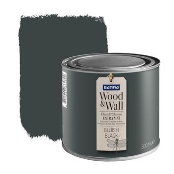 GAMMA Wood&Wall krijtverf Bluish Black 500 ml