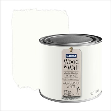 GAMMA Wood&Wall krijtverf Wonderful White 500 ml