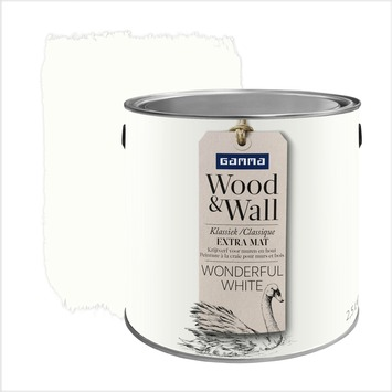 GAMMA Wood&Wall krijtverf Wonderful White 2,5 liter