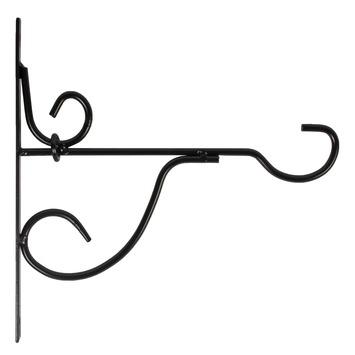 Binding Fix muurhaak smeedijzer zwart 25cm