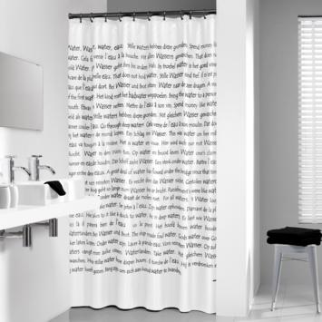 Sealskin Douchegordijn Sayings Wit PVC 200x180 cm