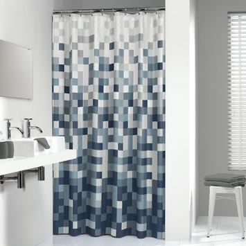 Sealskin Douchegordijn Pixel Textiel Zwart 200x180 cm