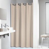 Sealskin douchegordijn Coloris textiel ecru 200x180 cm