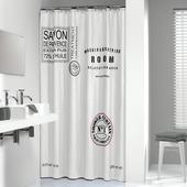 Sealskin douchegordijn Savon de Provence 180x200 cm textiel wit