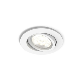 Philips casement inbouwspot rond 1x4,5 watt GLED wit
