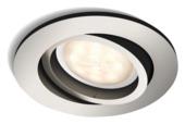 Philips Shellbark inbouwspot rond 1X4,5W LED nikkel