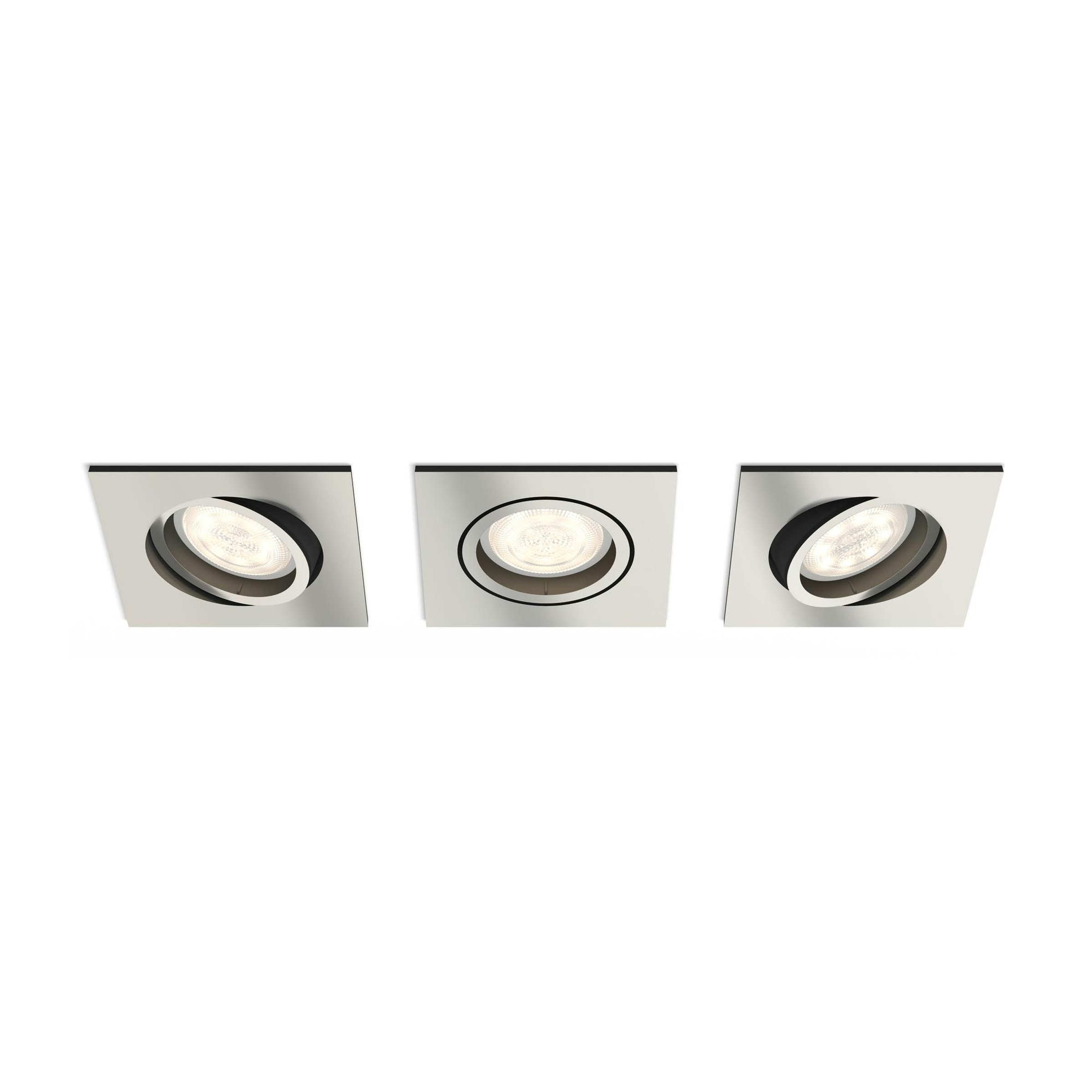 Philips Lighting Shellbark 5039317P0 LED-inbouwlamp Set van 3 13.5 W Warm-wit Nikkel (mat)