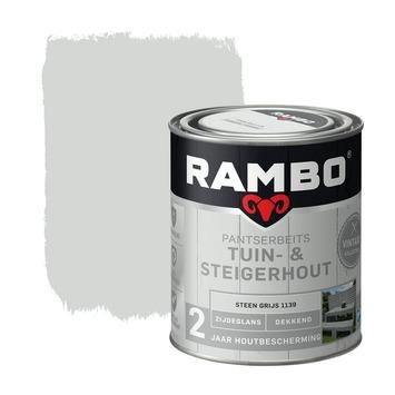 Rambo vintage pantserbeits tuin- en steigerhout dekkend steen grijs zijdeglans 750 ml
