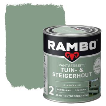 Rambo vintage pantserbeits tuin- en steigerhout dekkend helm groen zijdeglans 750 ml