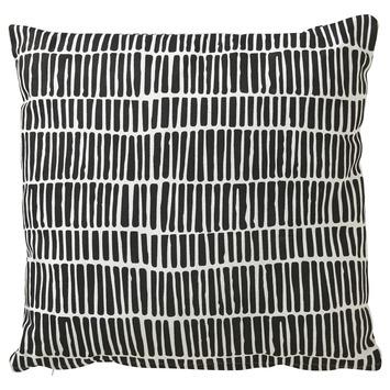 Kussen Zwart Wit.Kussen Penstreep Zwart Wit 45x45 Cm