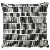 Kussen Penstreep zwart/wit 45x45 cm