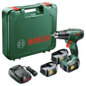 Bosch accuschroefboormachine PSR1800 LI-2 + 3 accu's