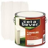 CetaBever tuinmeubelbeits white wash 2,5 liter