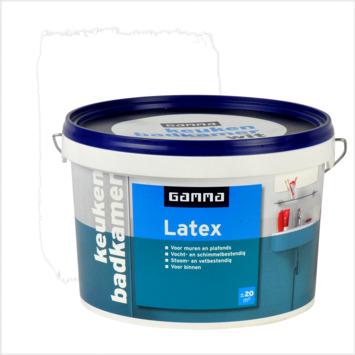 GAMMA latex badkamer en keuken wit 2,5 liter
