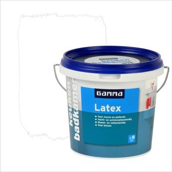 gamma latex badkamer en keuken wit 1 liter | muurverf wit (latex, Badkamer