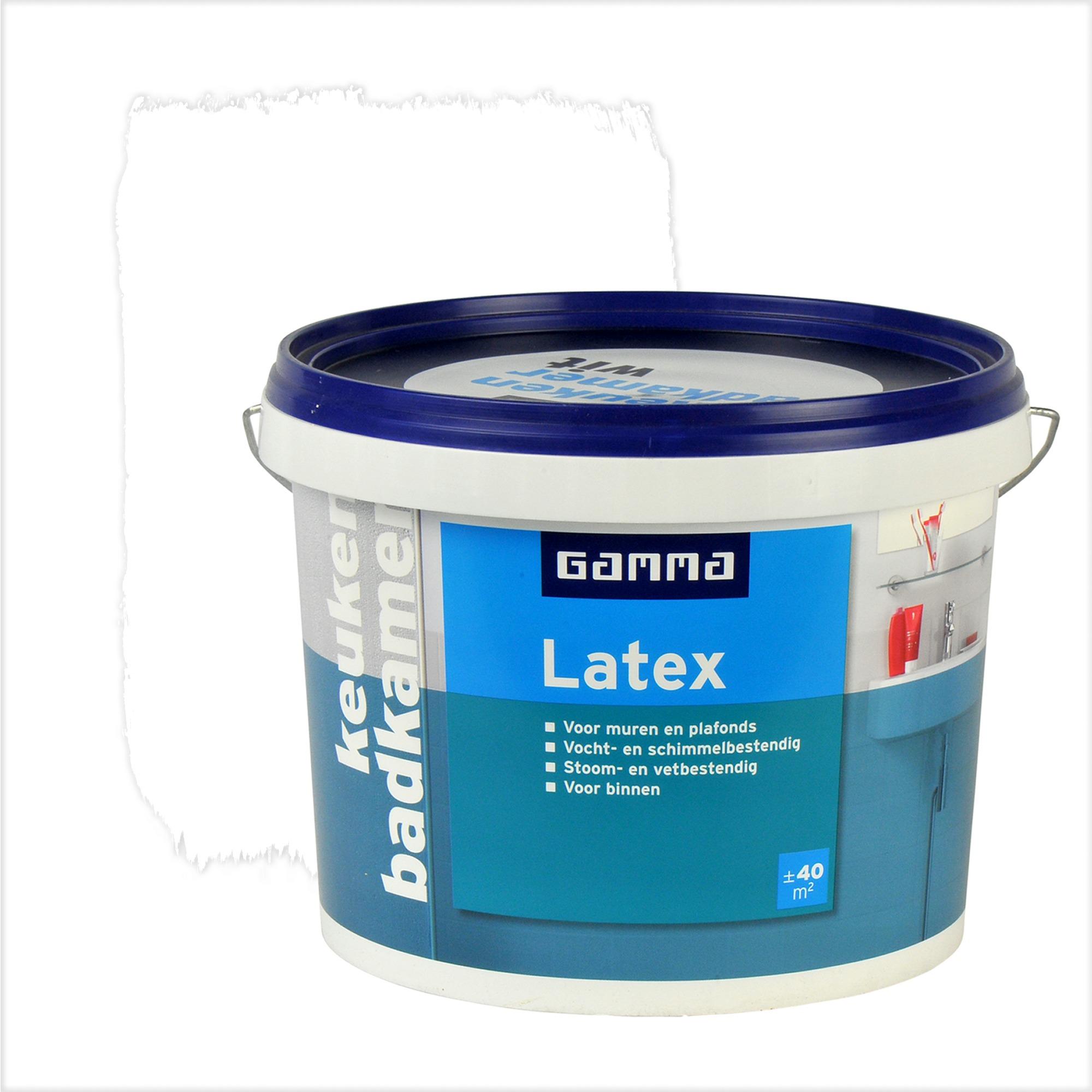 gamma latex badkamer en keuken wit 5 liter | muurverf wit (latex, Badkamer