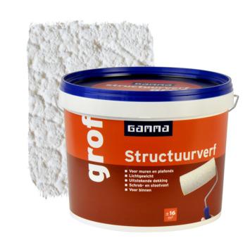 GAMMA structuurverf grof wit 10 liter