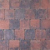 Trommelsteen rood/zwart 14x14x14x7 cm